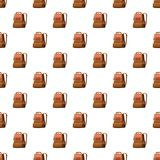 School bag pattern Stock Photos