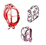 School bag school bag. School bag Stock Photography