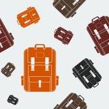 School Bag Seamless Pattern. Editable School Bag Vector Illustration Seamless Pattern Royalty Free Stock Photos