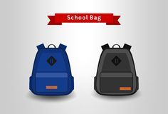 School bag set Royalty Free Stock Photography