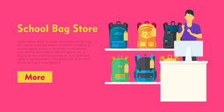 School Bag Store. Two Sellers Offering Backpacks Stock Images