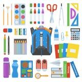 School bag vector set. Royalty Free Stock Photo