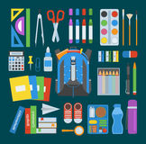 School bag vector set. Royalty Free Stock Images