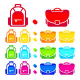 School bags stock illustration