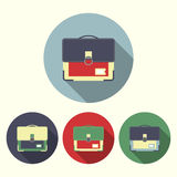 School bags icons Royalty Free Stock Images