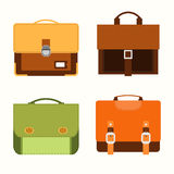 School bags icons Stock Photography
