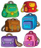 School bags theme set 1 Stock Image