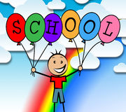 School Balloons Represents Youth Male And Learned Royalty Free Stock Images
