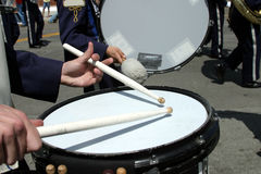 School band at parade Royalty Free Stock Photos