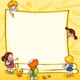 School  banner. School children's  banner. Place for text Royalty Free Stock Photo