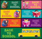 School Banner Set Part 1 Royalty Free Stock Images