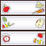 School banners Stock Images