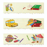 School banners Stock Photo
