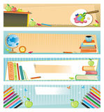 School banners. Four graphic school banners with copyspace. To see similar illustrations, please visit my gallery