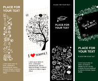 School banners design with place for your text Royalty Free Stock Image