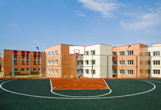 School basketbal yard Royalty Free Stock Image