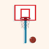 School basketball court theme elements vector,eps Stock Photography