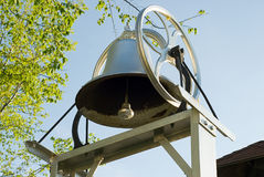 School Bell. Close-up view of an old school bell Royalty Free Stock Images