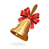 School bell with bow Stock Photos