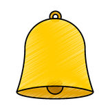 School bell isolated icon. Vector illustration design Stock Images