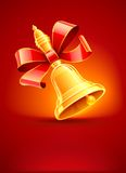 School bell with red ribbon Stock Photo