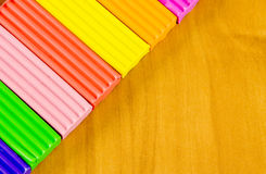 School belonging, bright plasticine Royalty Free Stock Photos