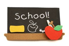 School Black Board Royalty Free Stock Photos