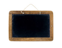School black board. Old Time Slate Writing Tablet isolated on white Stock Images