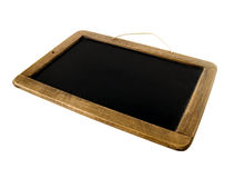 School black board. Old Time Slate Writing Tablet isolated on white Stock Image