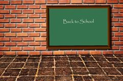 School black board as brickwall Royalty Free Stock Photography