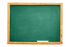 School blackboard. Isolated on white background Stock Photos