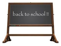 School blackboard back to school - 3D render. School blackboard back to school isolated in white background - 3D render Stock Images