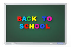 School blackboard with back to school sign Stock Photo