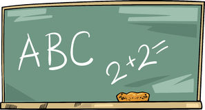 School blackboard cartoon illustration Royalty Free Stock Photo