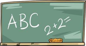 School blackboard cartoon illustration Royalty Free Stock Photo
