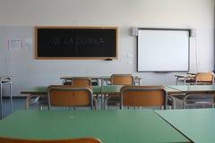 School blackboard classroom Stock Images