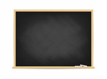 School blackboard. Dirty black chalkboard with traces of chalk isolated on background Royalty Free Stock Photography