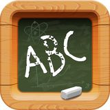 School blackboard icon Royalty Free Stock Photos