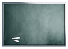 School blackboard isolated on white background Royalty Free Stock Image