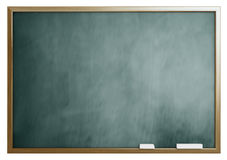 School blackboard isolated on white background Stock Image