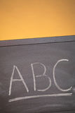 School Blackboard with Letters Royalty Free Stock Photos