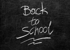 School blackboard with message Stock Images