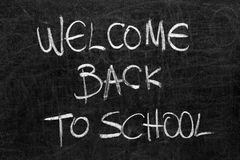 School blackboard with message Royalty Free Stock Photos