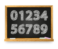 School blackboard with numbers Royalty Free Stock Photo