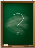 School blackboard with question mark Stock Image