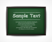 School blackboard & text Royalty Free Stock Photos