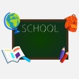 School blackboard. Vector illustration in flat style Royalty Free Stock Photo