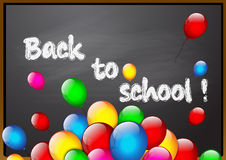Free School Blackboard With Color Balloons Stock Photos - 58046833