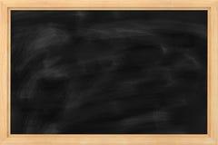 School blackboard. School wooden frame blackboard for fill in massage Stock Photography