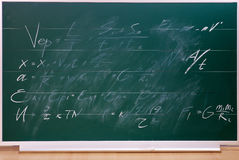 School blackboard with  writing. Stock Photo